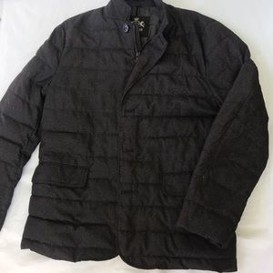 Men's Express Puffer Down dress coat size Large